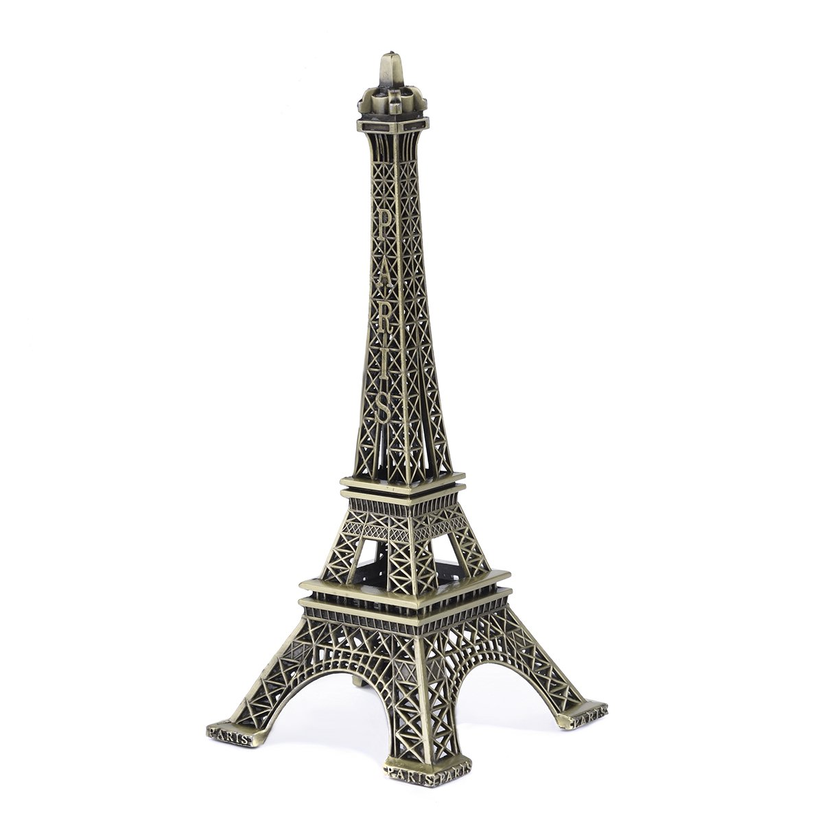 JoyFamily Eiffel Tower Decor,7Inch (18cm) Metal Paris Eiffel Tower Statue Figurine Replica Drawing Room Table Decor Jewelry Stand Holder for Cake Topper,Gifts,Party And Home Decoration (Retro)