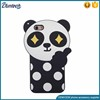 Factory supply phone case cute panda silicone phone case for iphone 6s plus