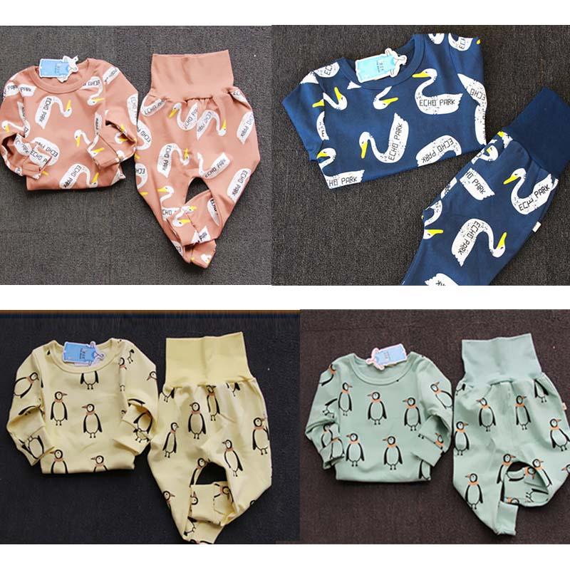 BBK mini rodini boys and girls all cotton underwear long gown of tall waist abdomen leisurewear
