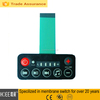 china professional manufacturer tactile membrane keypads with leds