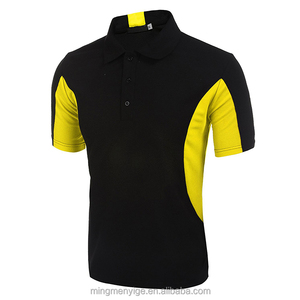 Custom Design Contrast Colors Mens Uniform Tennis Golf Polo Shirt Dry Fit