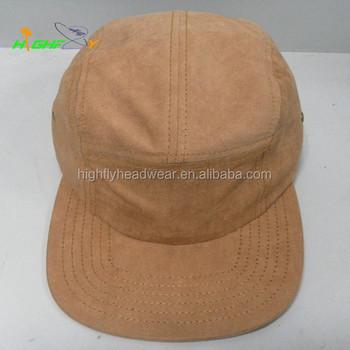 2e30823da852b High quality custom made Khaki suede 5 panel camper cap blank wholesale camp  hat