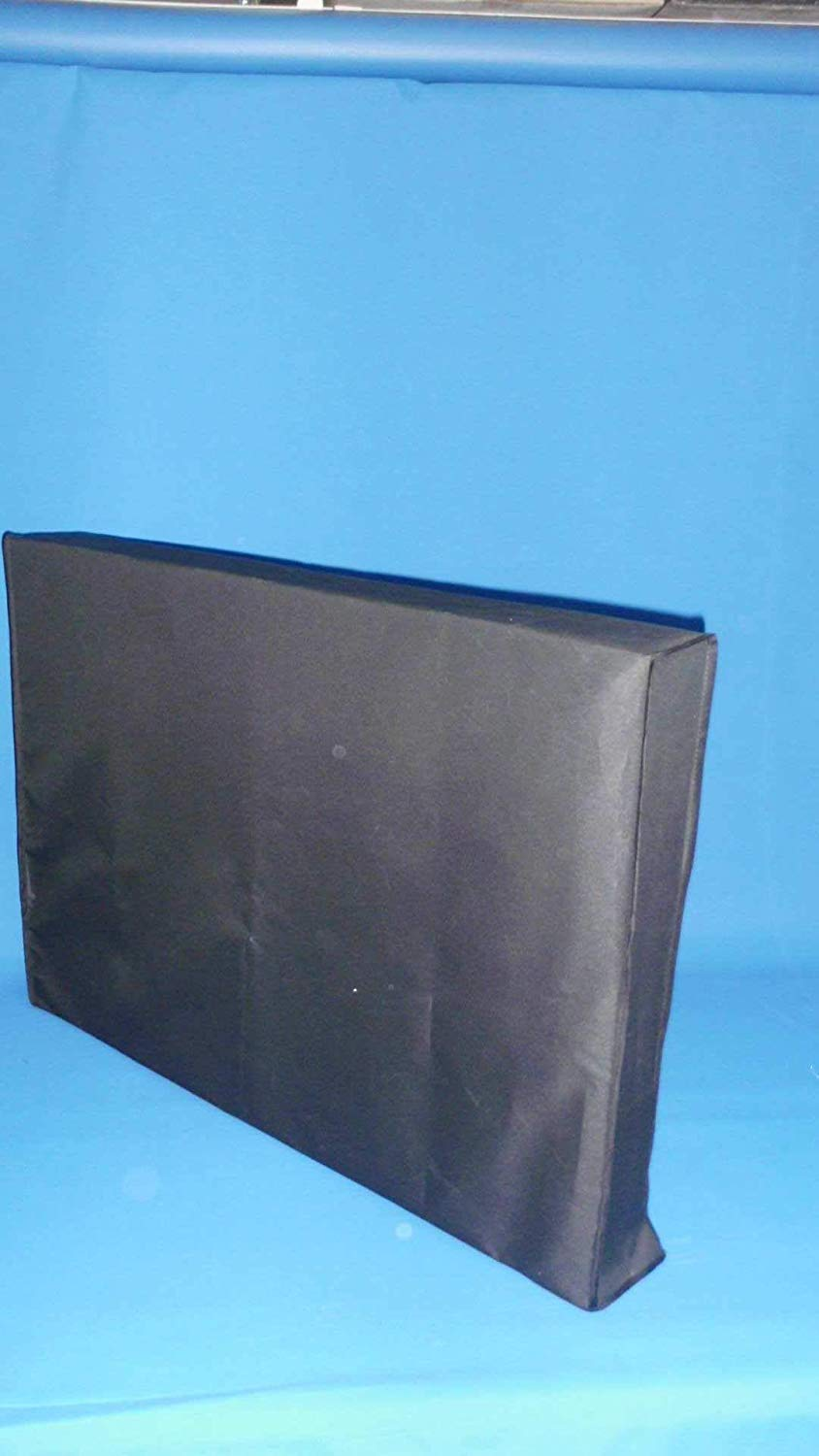 """Large Flat Screen Tv's 37"""" Marine Grade Black Nylon Dust Covers Ideal for Outdoor Locations. (Certified Refurbished)"""