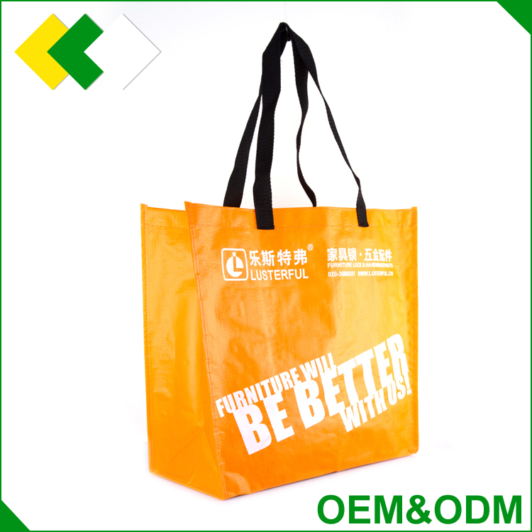 Hot sale recycled customized promotional foldable woven shopping bag bag printing Logo laminaied fabric pp woven vietnam