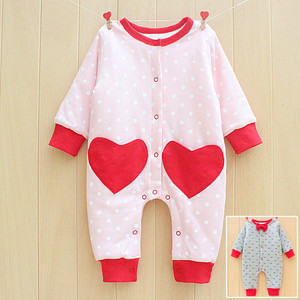 Cute comfortable baby pajama organic cotton baby rompers wholesale baby clothes infant clothes from china