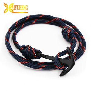 Where Can I Get Webbing Knot For Men Anchor Cotton Wristband Bracelet Rope
