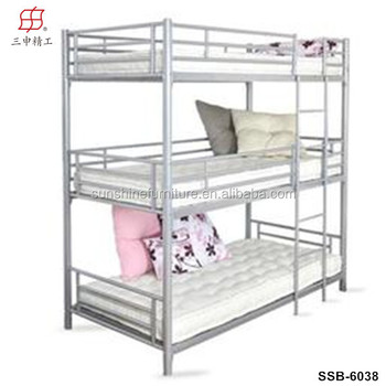 Modern Cool Cheap Metal Triple Bunk Beds Sale For Triple Three