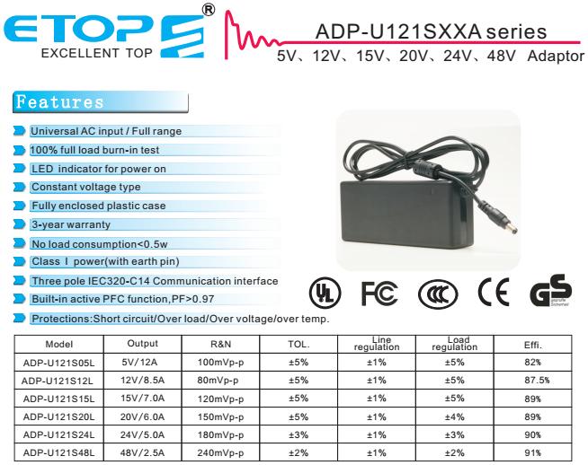 Masaüstü sınıf 2 AC DC 230v 12v 8a güç adaptörü