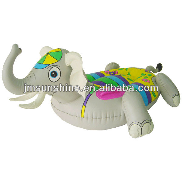 Cheap PVC inflatable River elephant animal kid rider