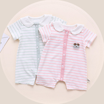 deded30fb6b  1 Baby Clothes Wholesale Stripe New Born Baby Girl Clothes Cute Boho Romper