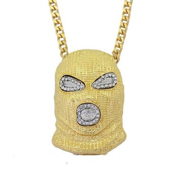 hippie mask pendant necklace jewelry wholesale mask pendant jewelry
