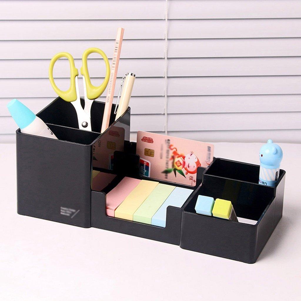 Pen Holder Cute Student Desktop Pen Case Stationery Office Supplies Storage Box Pen Holder ( Color : Black )