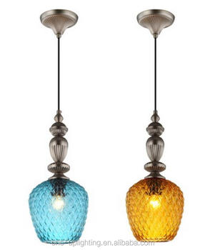 modern lustres led glass pendant lamps venice flow lake blue