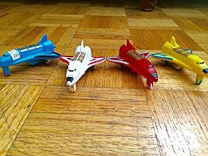 Space Shuttle Collection Set of 4 Spacecraft Space Shuttle NASA Style with Pull Back Action Assorted Colors