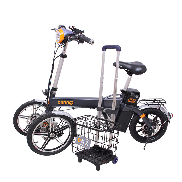 New 2018 adult electric tricycle lithium battery 250W foldable electric bicycle