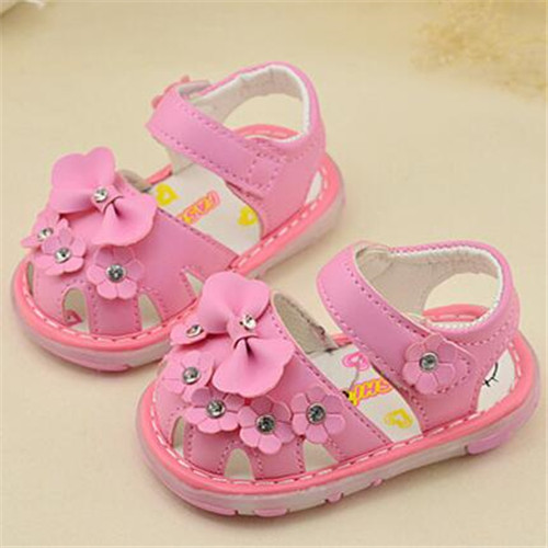 Cute newborn baby girl shoes