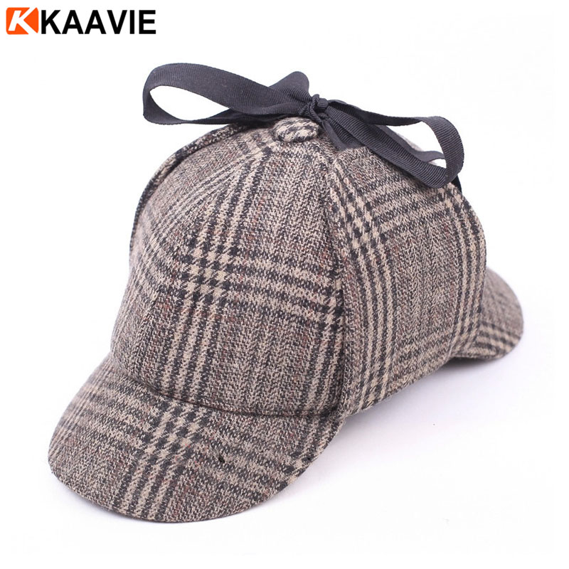 Houndstooth Style Sherlock Holmes Hat - Buy Double Visor Baseball ... 16f313df8d5