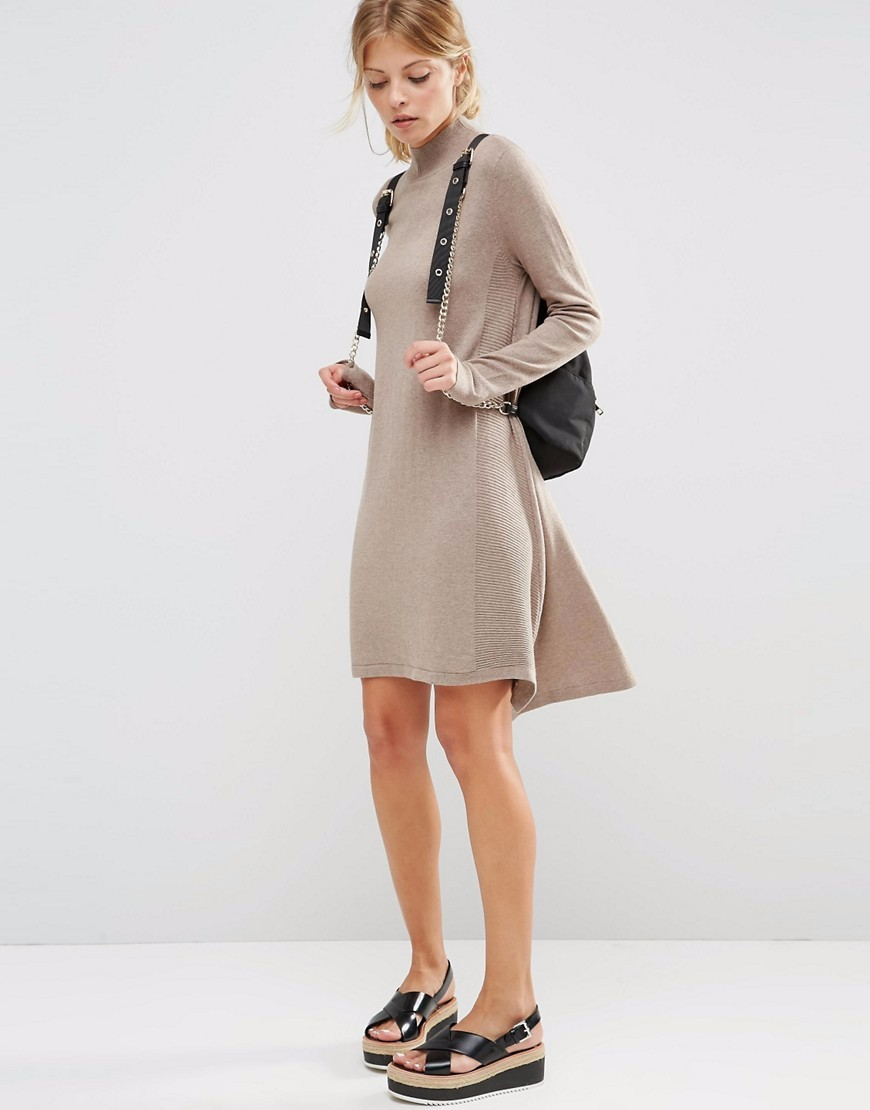 Soft-touch fine knit 2016 casual dresses
