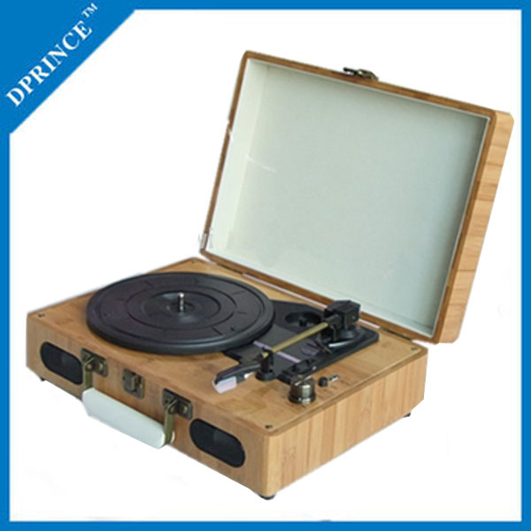 music vinyl records Retro wood player turntable with /USB/MP3/build-in speaker
