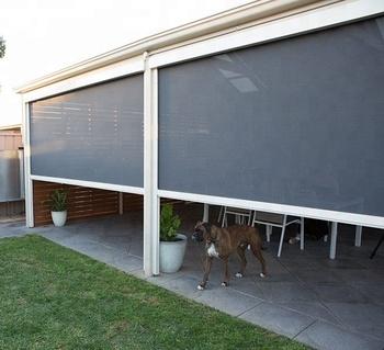 Cafe Blinds Outdoor Pvc Waterproof Windproof Ziptrack 100 Blackout