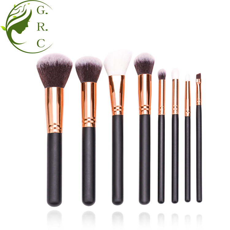 Amazon top selling shaving facial cosmetic kabuki makeup brush set with dirt-proof pu bag