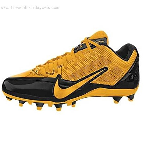 Get Quotations · NFL PITTSBURGH STEELERS NIKE MEN S ALPHA PRO TD SB LOW FOOTBALL  CLEATS BLACK YELLOW SIZE 13 3d38cdbbf