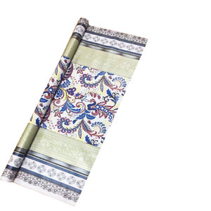 China supplier supply good quality decorative print pattern opaque PVC vinyl table covers roll with laminating Yarn cloth