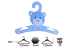 Baby cloth cardboard cute clothes hanger