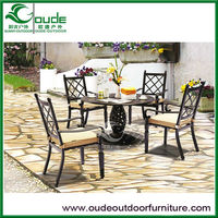 cast aluminium table and chair set