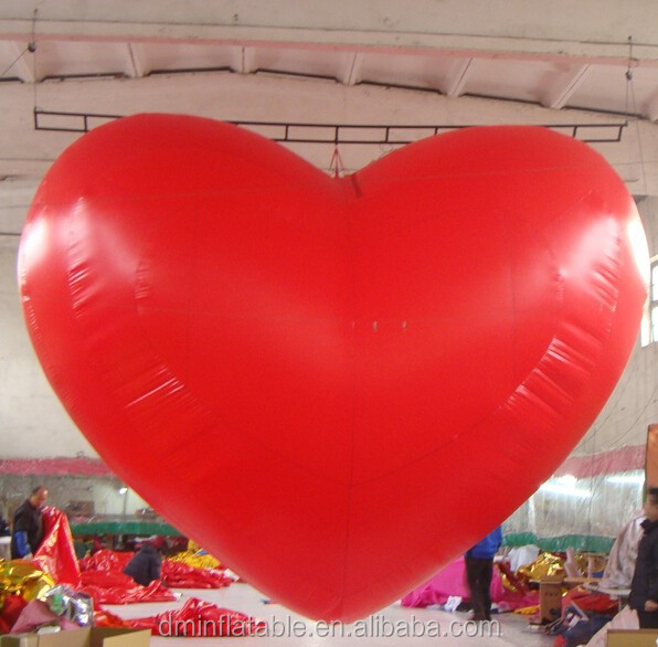 hanging inflatable decorative hearts, inflatable valentine hearts