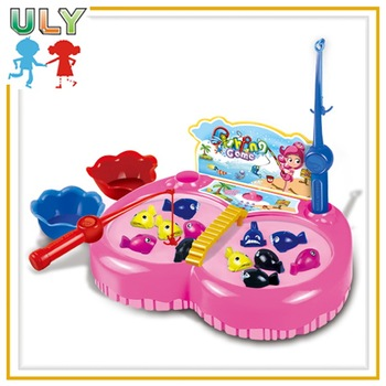 Hot sale plastic realistic kids magnetic fishing game toys for Realistic fishing games