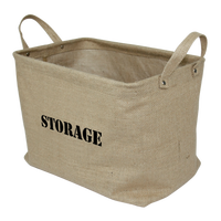 Eco-friendly Jute Baby Diaper Book Cheap Collapsible Home Toy Storage Basket