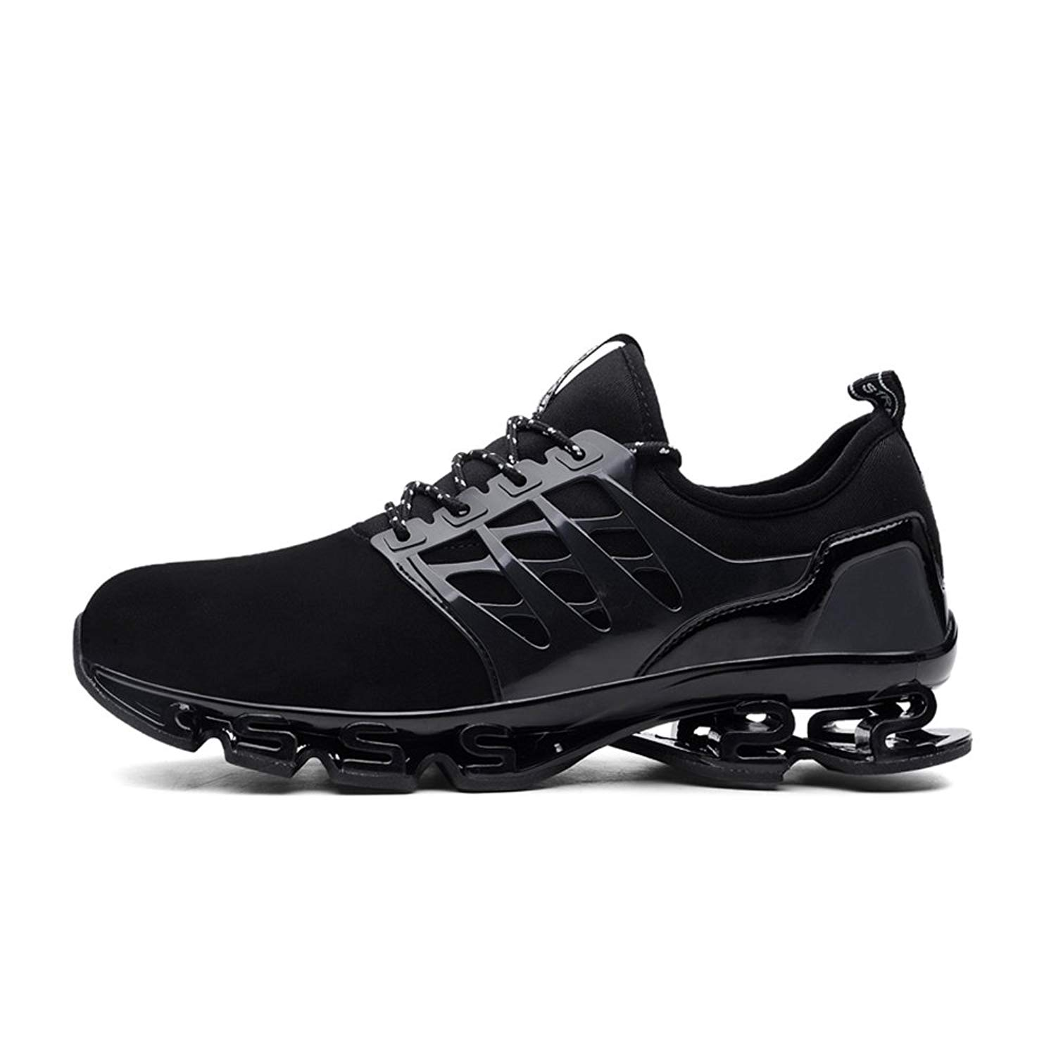 edbab5b6d2ae Get Quotations · HooyFeel Men s Non-Slip Sneaker Breathable Mesh Athletic  Running Shoes Walking Springblade Sport Shoes