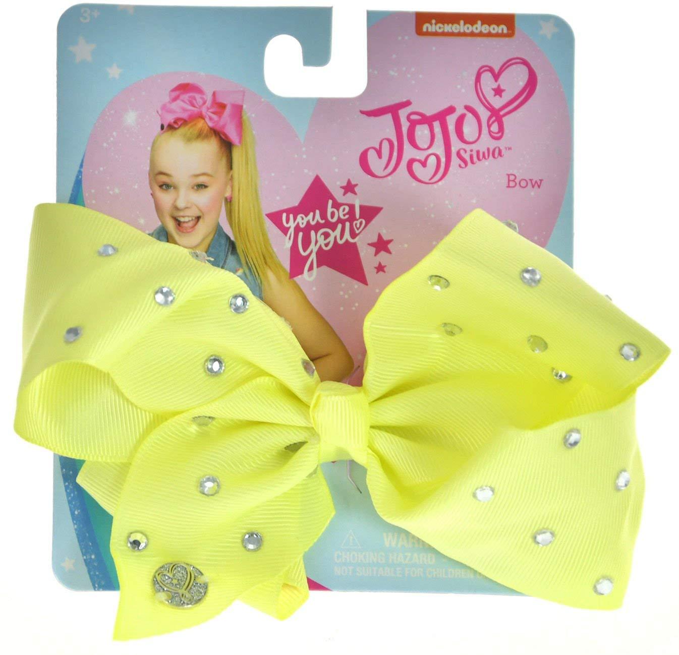 JoJo Girls Siwa Signature Collection Yellow w/Rhinestone Hair Bow