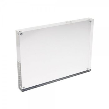 A4 Magnetic Clear Acrylic Block Sign Holder Perspex Photo Frame ...