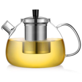 50OZ Clear Glass Teapot with Infuser & Lid coffee maker