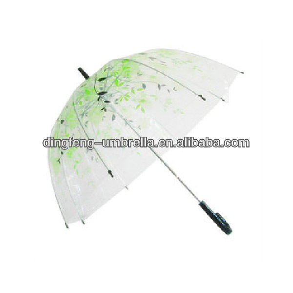 New inventions rain cheap transparent poe umbrella for advertising