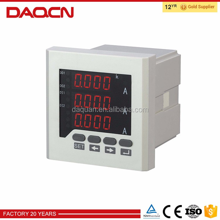 3-phase reactive power meter three phase digital watt meter