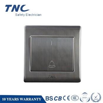 Z9211 B Door Bell Switch Stainless Steel Doorbell 86 86mm Metal 6a