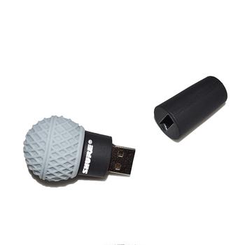 custom microphone usb flash drive 128gb usb flash drive custom logo buy custom rivet logo. Black Bedroom Furniture Sets. Home Design Ideas