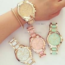 2016 new hour Quartz Assista Homens Mulheres Genebra Senhoras Relógio Reloj Relogio Genebra de Metal relógio de pulso para mulheres novo Relogio feminino
