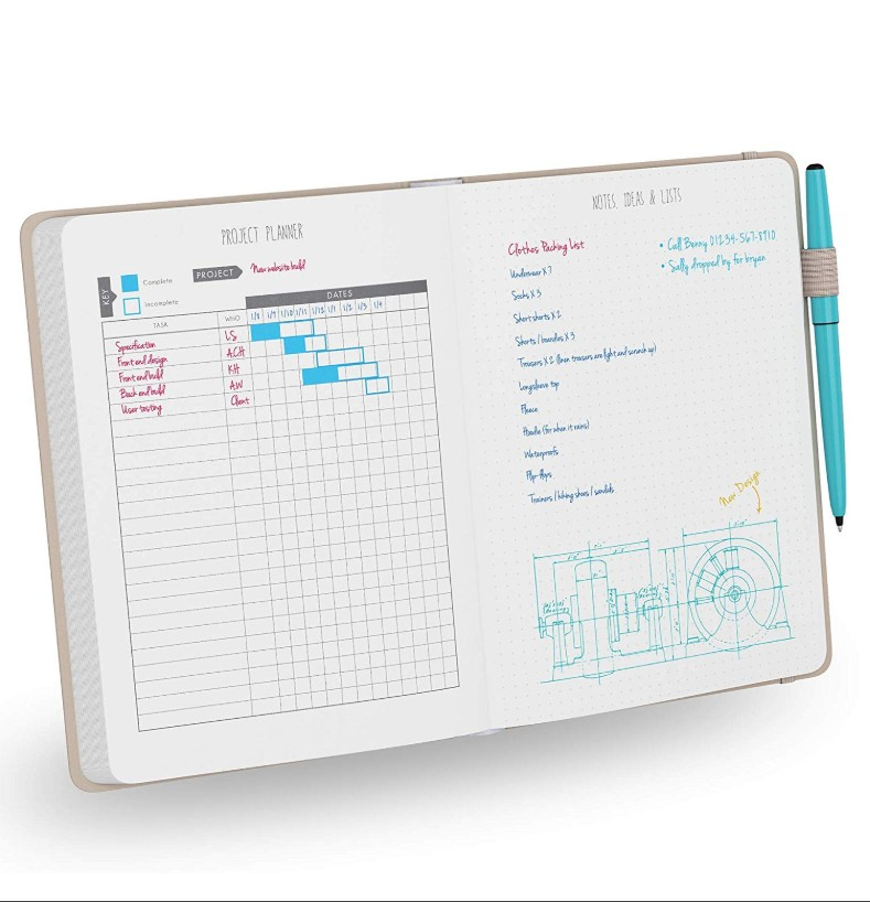 Multi color cover dotted Productivity Planner