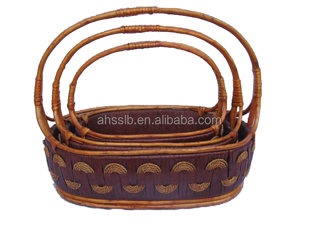 wicker baskets for ladise