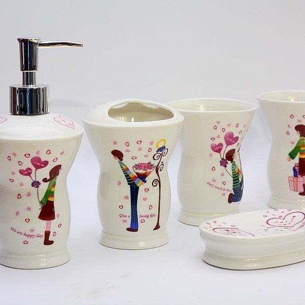 Elegant Bathroom Sets Sale: Ceramic Bathroom Accessories Set Fashion Elegant Bathroom