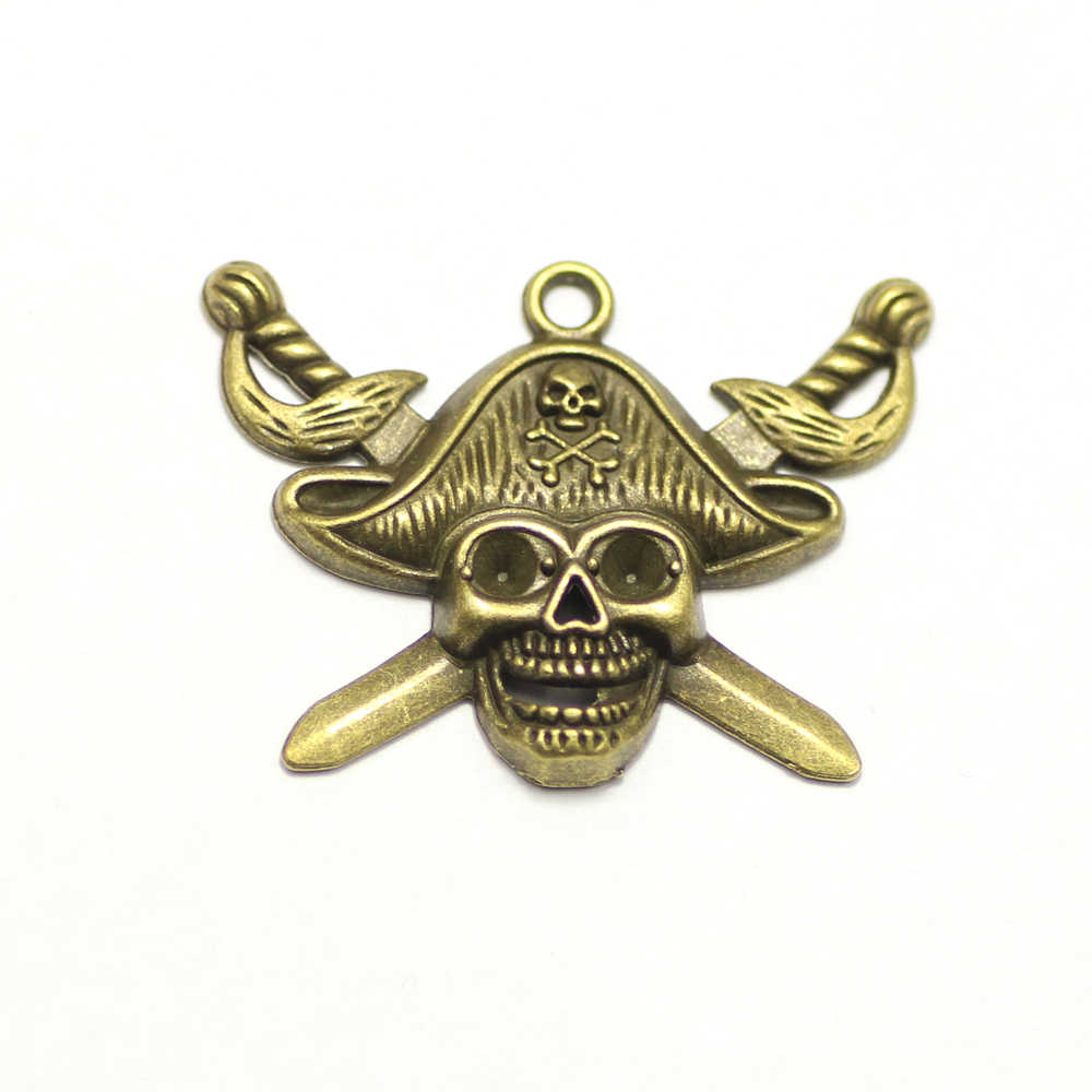 antique vintage pirate emoji jewelry vograce acrylic charm