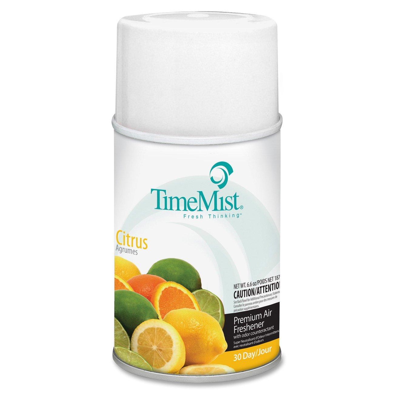 TimeMist 1042781EA Metered Fragrance Dispenser Refill, Citrus, 6.6oz, Aerosol
