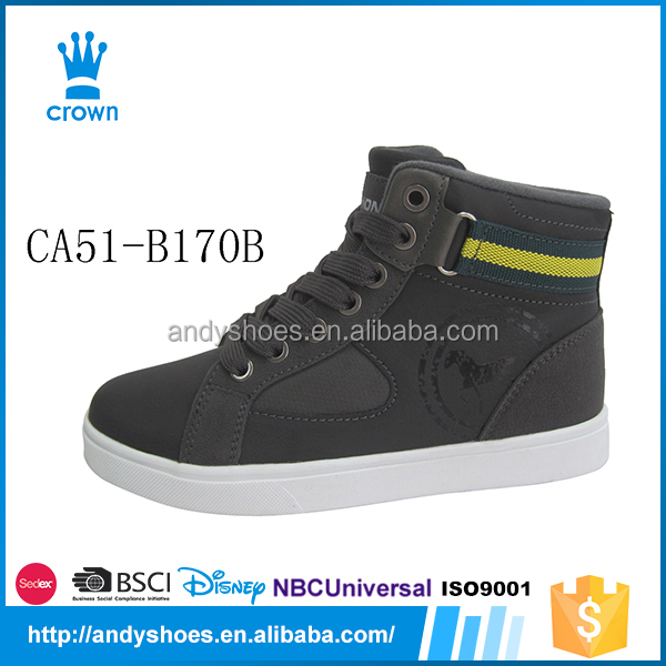 Outdoor high top brand name with low price plain sneakers wholesale