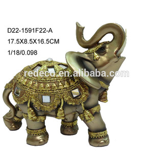 Antique gold resin indian decorative elephants