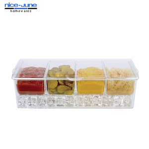 Food grade Crystal clear Acrylic containers for food