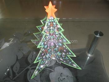 Acrylic christmas tree luminary